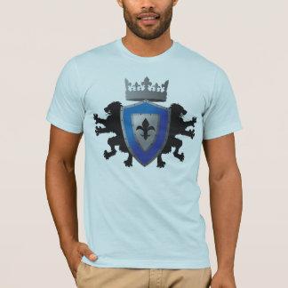 T-shirt Amer héraldique des hommes médiévaux bleus de