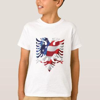 T-shirt Américain albanais Eagle