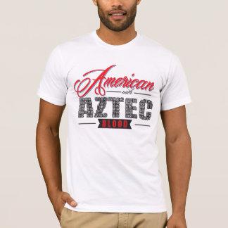 T-shirt Américain avec le sang aztèque