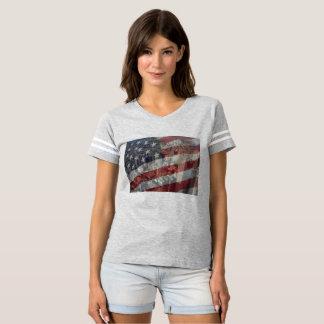 T-shirt américain de femmes du drapeau X NYC des
