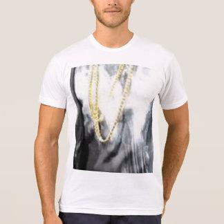 T-shirt américain de mélange de Poly-Coton