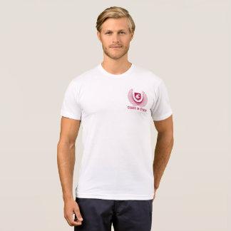 T-shirt américain de mélange de Poly-Coton de