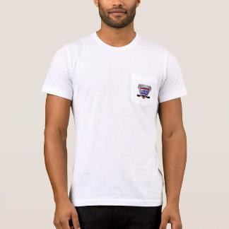 T-shirt américain de poche de l'habillement des