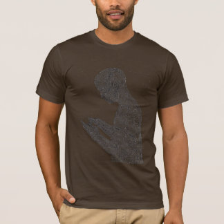 T-shirt américain de prière (brun)
