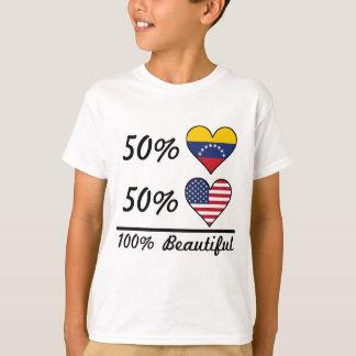 T-shirt Américain du Vénézuélien 50% de 50% 100% beau
