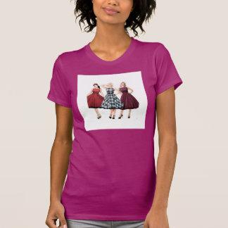 T-shirt Américain-Fin de rétro fille