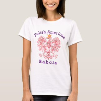T-shirt Américain polonais Babcia