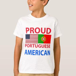 T-shirt Américain portugais fier