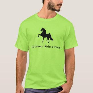 T-shirt Américain Saddlebred - le devenez écolo, montent