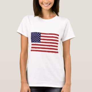 T-shirt americana de femmes de drapeau américain