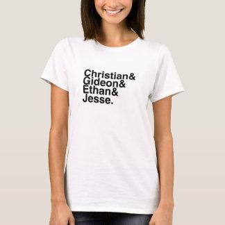 T-shirt Ami de livre - chrétien, Gideon, Ethan, Jesse