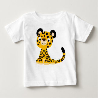 T-shirt amical mignon de bébé de Jaguar de bande