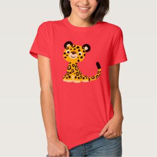 T-shirt amical mignon de femmes de Jaguar de bande