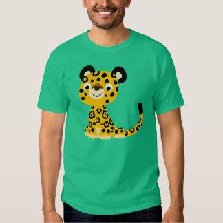 T-shirt amical mignon de Jaguar de bande dessinée