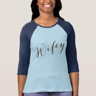 T-shirt Amie d'épouse de manuscrit de Wifey Brown moderne