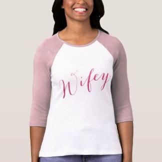 T-shirt Amie fuchsia d'épouse de sembler de scintillement