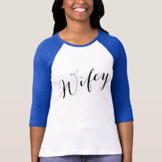 T-shirt Amie moderne d'épouse de manuscrit noir de Wifey