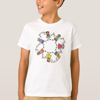 T-shirt Amis heureux mignons d'enfants de bande dessinée