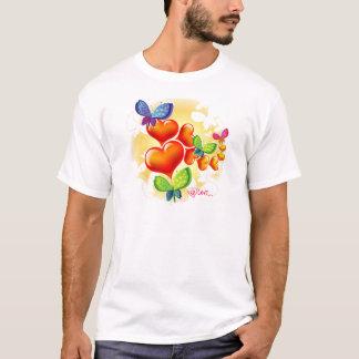 T-shirt Amitié douce mignonne d'amour d'été de Colorfull