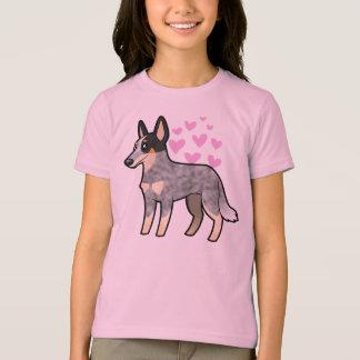 T-shirt Amour australien de chien/Kelpie de bétail