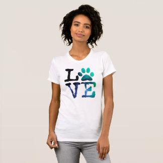 T-shirt Amour, avec la chemise d'empreinte de patte de