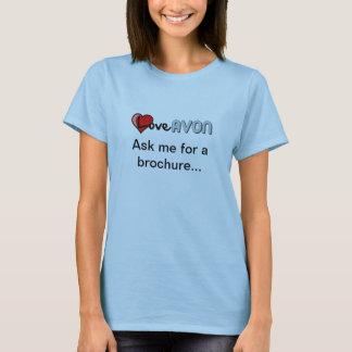 T-shirt Amour AVON - demandez-moi une brochure