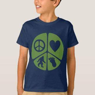 T-shirt Amour Bigfoot de paix