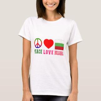 T-shirt Amour Bulgarie de paix