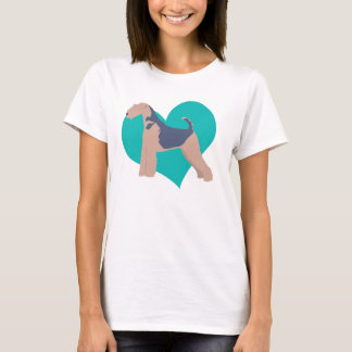 T-shirt Amour d'Airedale