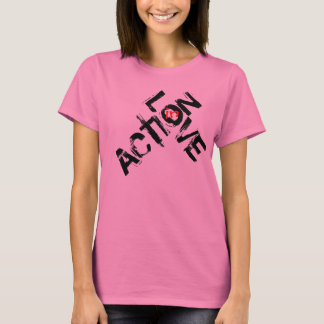 T-shirt Amour dans l'action - copie noire