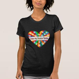 T-shirt Amour de Boston Terrier