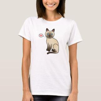 T-shirt Amour de chat de Champagne Tonkinese
