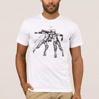 T-shirt amour de Derby de rouleau