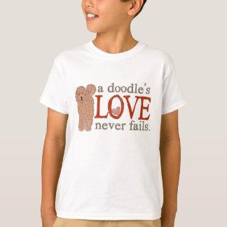 T-shirt Amour de griffonnage - abricot Goldendoodle