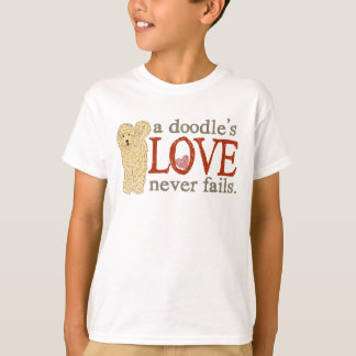 T-shirt Amour de griffonnage - Goldendoodle blond