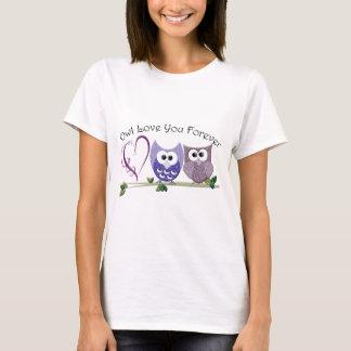 T-shirt Amour de hibou vous pour toujours, les hiboux et