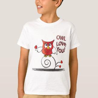 T-shirt Amour de hibou vous Valentine