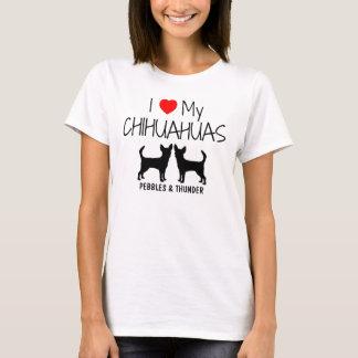 T-shirt Amour de la coutume I mes deux chiwawas