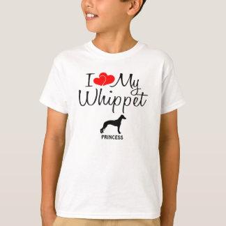 T-shirt Amour de la coutume I mon whippet