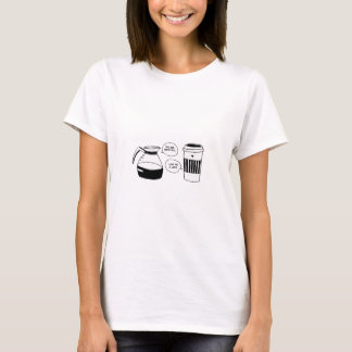 T-shirt Amour de Latte Valentine de café