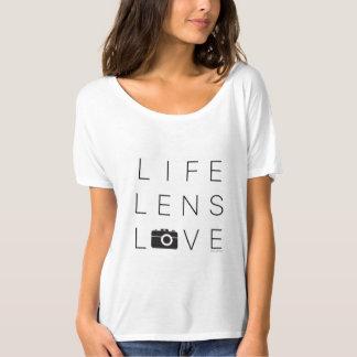 T-shirt AMOUR de LENTILLE de la VIE Slouchy de la pièce en