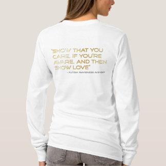 T-shirt Amour de Logo_Show de vengeur de sensibilisation