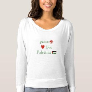 T-shirt Amour de paix et femmes de la Palestine