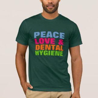 T-shirt Amour de paix et hygiène dentaire