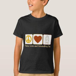 T-shirt Amour de paix et jour de Groundhog