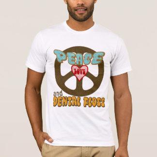 T-shirt Amour de paix et soie dentaire