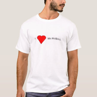 T-shirt Amour de PitBull