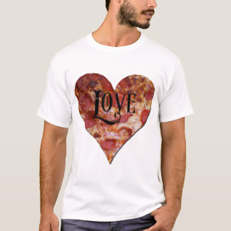 T-shirt Amour de pizza de Saint-Valentin