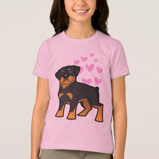 T-shirt Amour de rottweiler