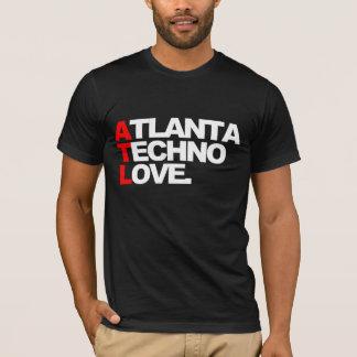 T-shirt Amour de techno d'Atlanta (noir)